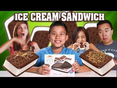 ICE CREAM SANDWICH MAKER with Worms & Crickets!!! GROSS DIY!