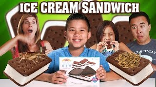 ICE CREAM SANDWICH MAKER with Worms & Crickets!!! GROSS DIY!