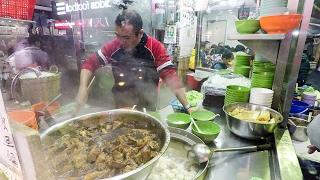 Fishballs, Noodles and Beef Soup Seen in Mong Kok. Street Food of Hong Kong