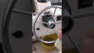 Boat hydraulic steering reseal