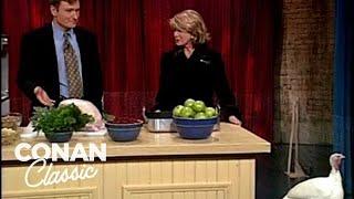 Conan & Martha Stewart Make A Perfect Thanksgiving Turkey - 'Late Night With Conan O'Brien'