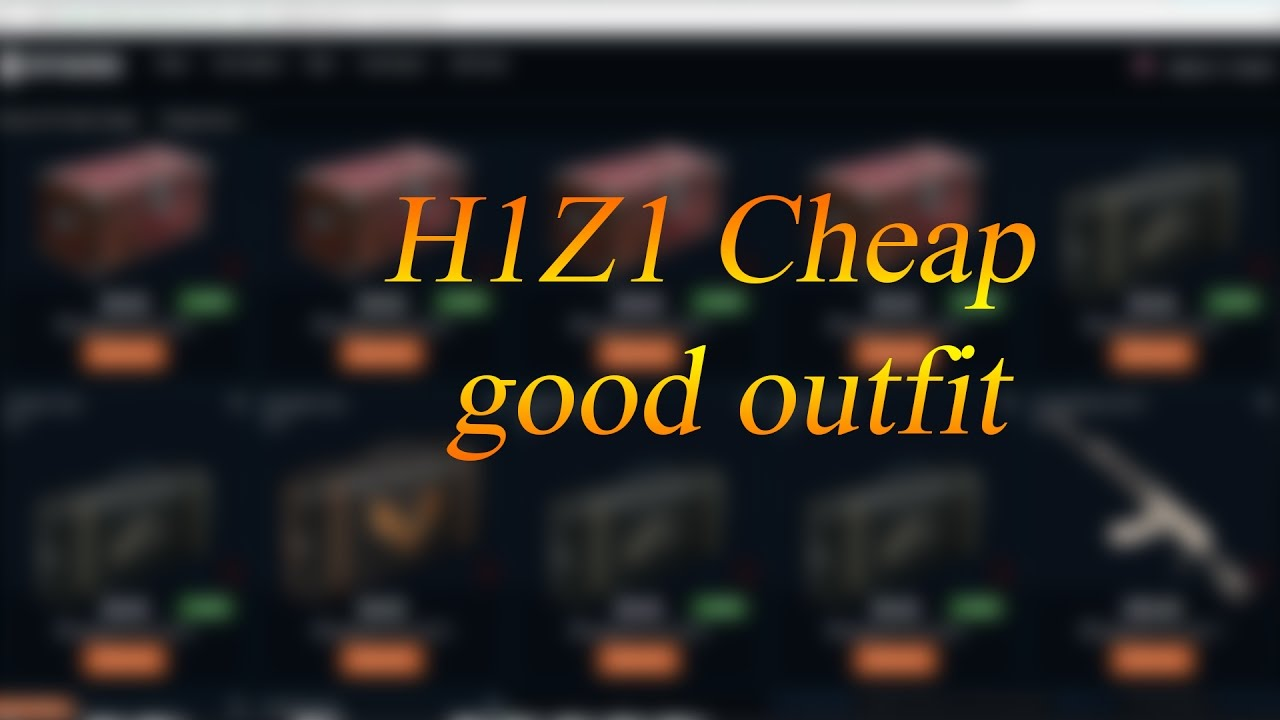 h1z1 sking guide 1 cheap good outfit h1z1 kotk youtube