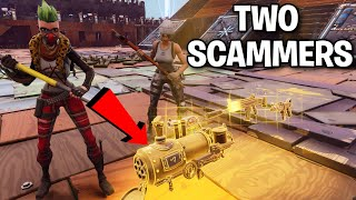 Two RICH Squeakers scammed me! 😞🥺 (Scammer Get Scammed) Fortnite Save The World