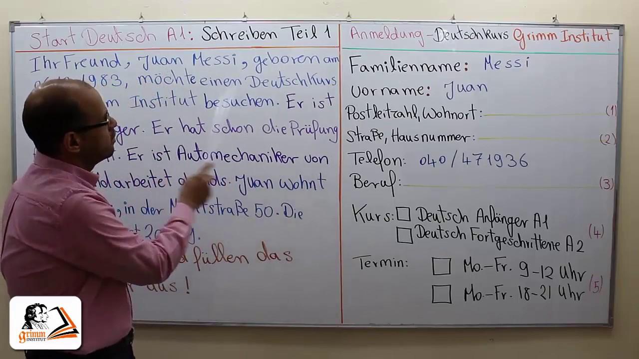 Schreiben Formular Ausfüllen Prüfung Start Deutsch Und Telc Youtube