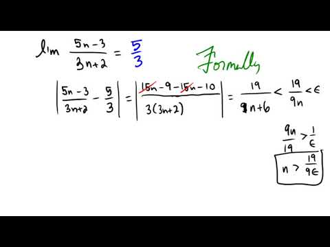 Establishing the limit of a rational function using epsilon-N