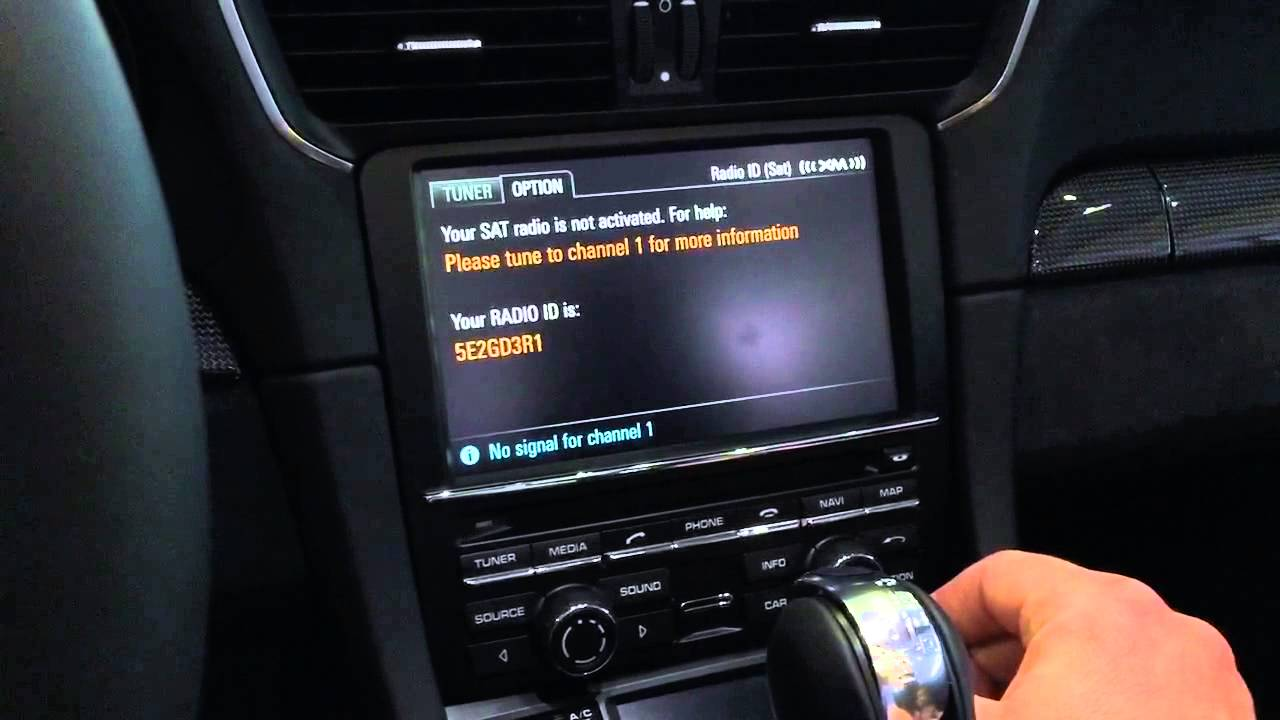 Xm Radio Weather Channel >> Porsche Xm Sirius Radio Activation Demo