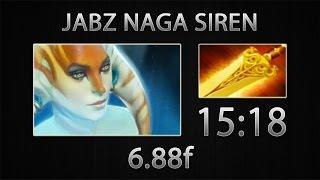 Dota 2 Naga Siren Fast Farm - JabZ - Radiance - 15:18 [6.88f]