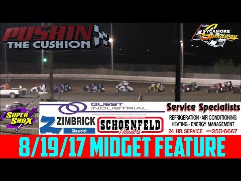 Sycamore Speedway - 8/19/17 - Badger Midgets - Feature