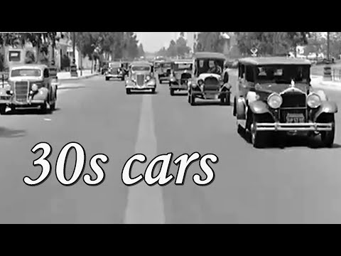 1930s Cars Cities And Traffic Footage