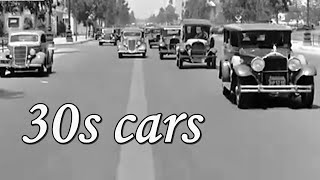 1930s cars, cities and traffic footage