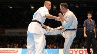 谷川光vs塚本徳臣 The 42th All Japan Open Karate Tournament Octofina...