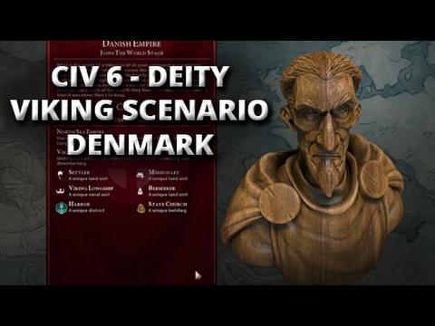 CIV 6 - Viking scenario - Denmark (Deity) Part 1