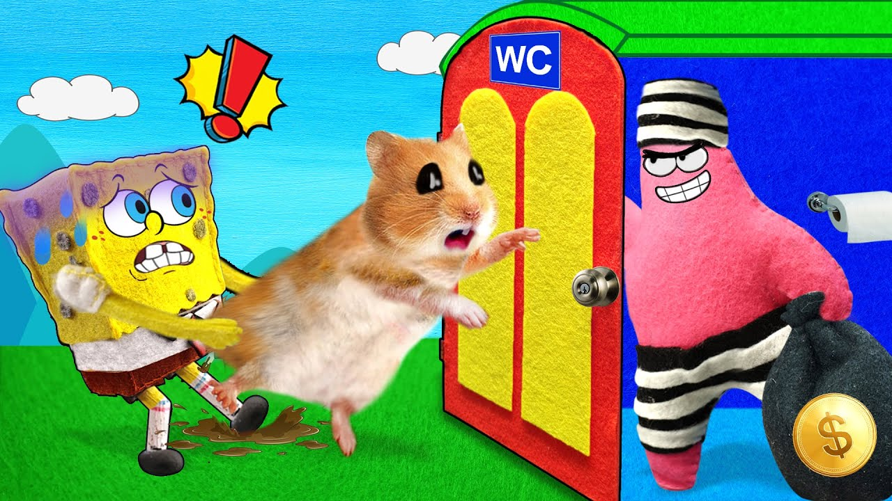 No No, Bad Guy Is in There! Spongebob and Patrick in Cartoon Hamster by Life Of Pets Hamham
