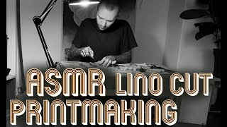 Unintentional ASMR | Lino cut Printmaking process by Emils Salmins