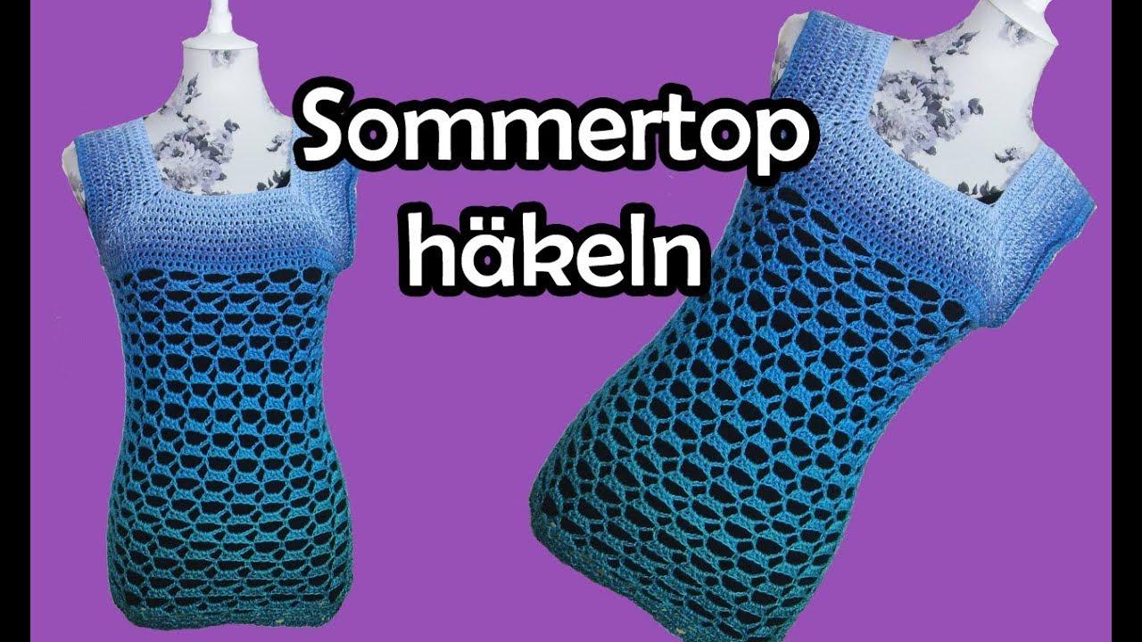 Sommertop Häkeln Bobbel Diy Häkelanleitung Youtube