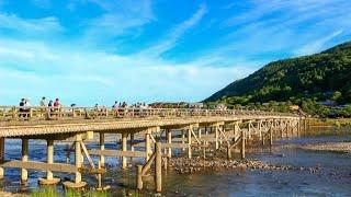 【4K】Togetsu kyo Bridge in Arashiyama Sagano Kyoto Japan【渡月橋 嵐山 嵯峨野 京都 日本】