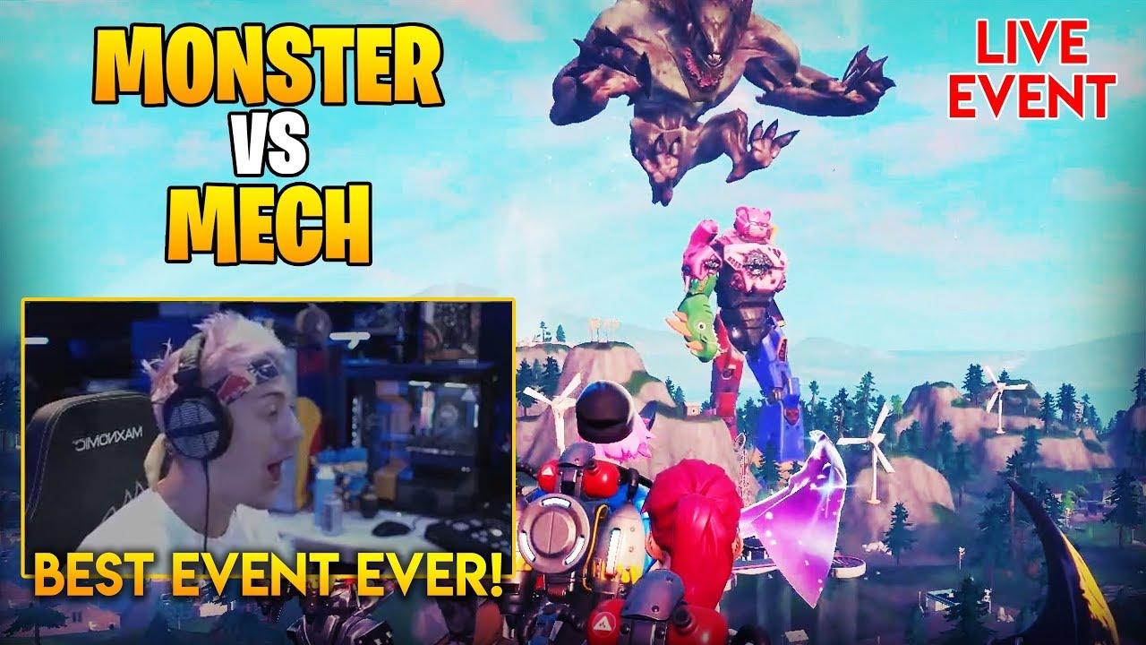 Download Ninja Reacts To Monster vs Mech Event!!