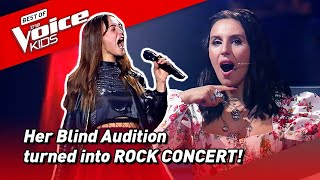 This GIRL ROCKER Blows away the coaches in The Voice Kids! 🤘  Road To