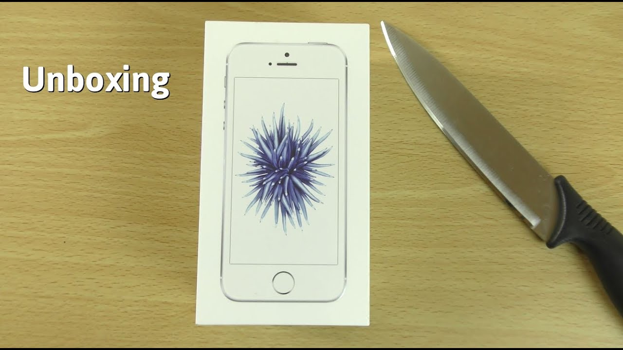 Apple Iphone Se Silver Unboxing First Look 4k Youtube 32gb
