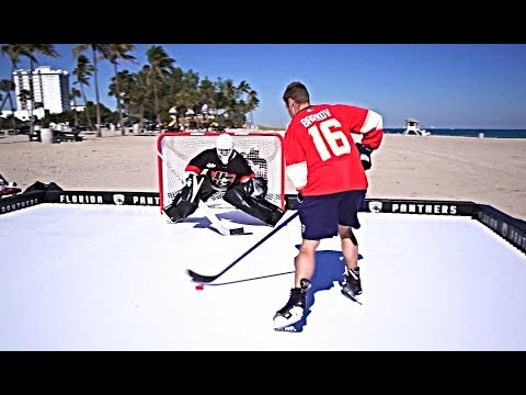 ALEKSANDER BARKOV VS. PAVEL BARBER   HockeyShot Shootout Challenge!