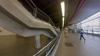 地下鉄ペッチャブリー駅からARLマッカサン駅まで高架連絡通路を通って