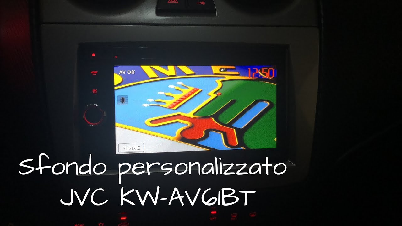 small resolution of set the custom background on the jvc kw av61bt