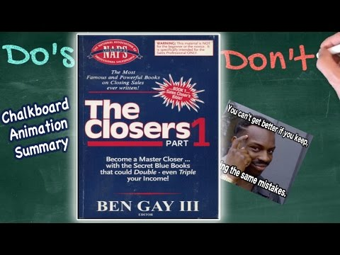 Characteristics of a Closer! | The Closers by Ben Gay III