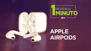Apple AirPods - É bom mesmo? | REVIEW EM 1 MINUTO - ZOOM