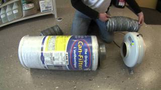 Miles from Hydrotech demonstrates how to install a carbon filter.
