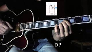 Li´l Darlin´ - Jazz Guitar Chord Melody Harmonization 2  - Chord Shapes