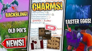 Old POI Challenges, Leaked Weapon Charms, Easter Eggs, Frostwing Backbling, Leaks! - Fortnite News