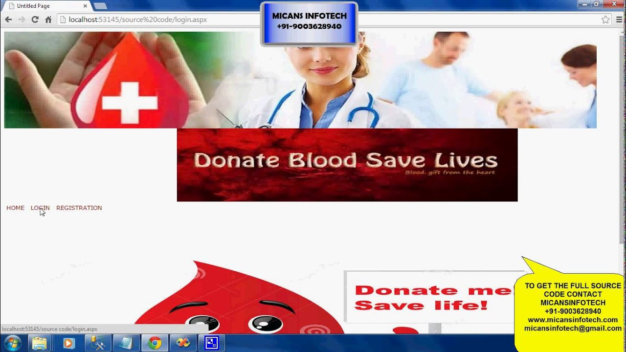 Blood Bank Management System Net Project Youtube