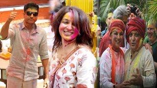 Farhan Akhtar, Tisca Chopra & Other at Shabana Azmi's Holi Party | Bollywood News