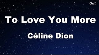 Video To Love You More - Celine Dion Karaoke【No Guide Melody】 download MP3, 3GP, MP4, WEBM, AVI, FLV Juli 2018