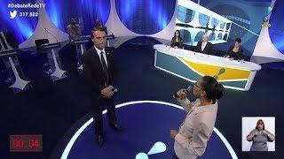 Em debate na RedeTV!, Marina Silva confronta Jair Bolsonaro sobre direito das mulheres