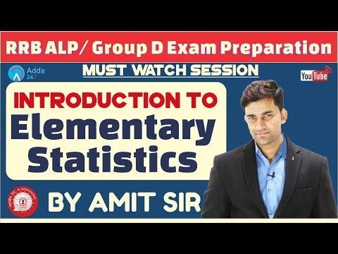 RRB ALP/ GROUP D | Introduction To Elementary Statistics By Amit Sir | Maths