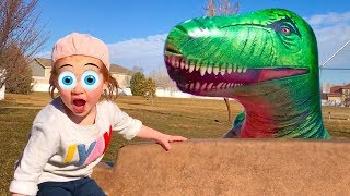 Scary Hide and Seek in Jurassic Park Dinosaurs & Fun