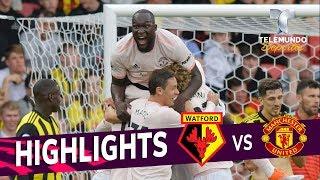 Watford vs. Manchester United: 1-2 Goals & Highlights | Premier League | Telemundo Deportes
