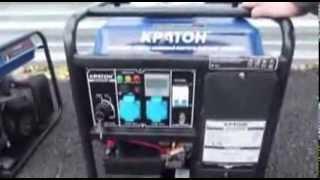 видео Бензогенератор кратон