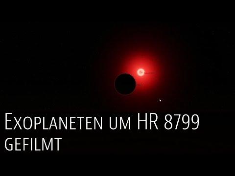 Wissenschaftler filmen Exoplaneten des Sterns HR 8799