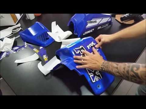 Instalacion Kit calcos Yamaha blaster