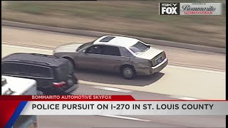 Car chase, downtown to St. Louis County