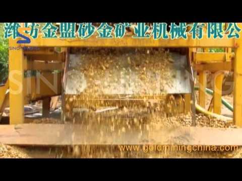 10-SLK-ZD300 gold wash plant working in Ghana