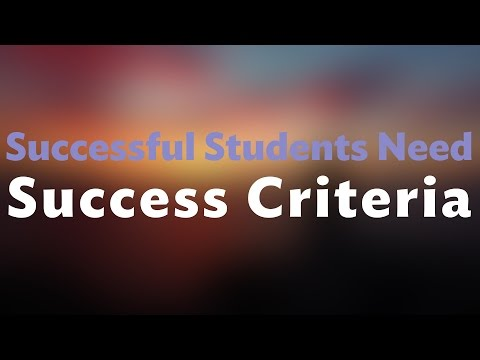 What on Earth are Success Criteria