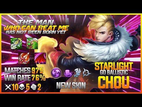 New Starlight Skin Chou Go Ballistic Top Global | Gameplay&Build | Skin Giveaway | Mobile Legends