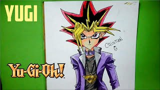 Como dibujar a YUGI (Yu-Gi-Oh!) - How to draw YUGI