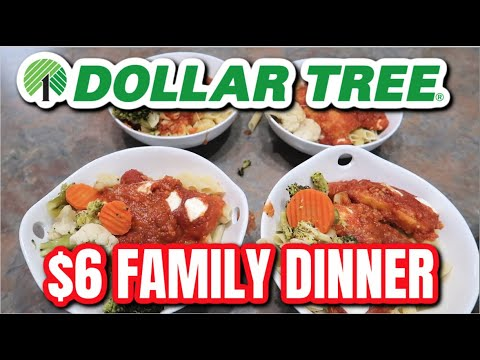 $6 FAMILY DINNER FROM DOLLAR TREE | COOKING ON A BUDGET | Vlogust #11