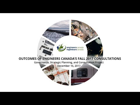 Outcomes of Engineers Canada's fall 2017 consultations