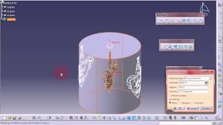 Tutorial Figuras sobre cilindros con Catia