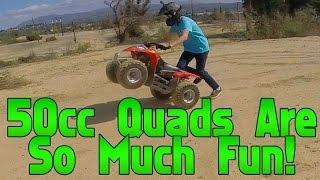 """50cc Quad Lake-bed Fun!"" (Bike Vlog Season 2 #1)"